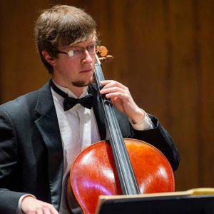 Man playing strings